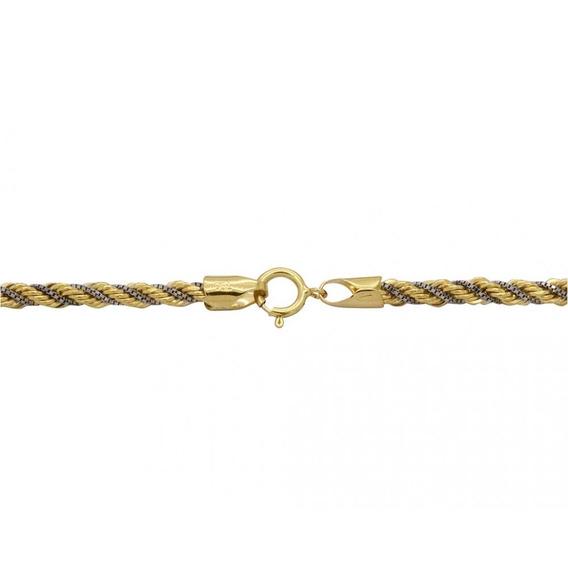 Corrente Bicolor Cordão Em Ouro 18k - Ov/11833