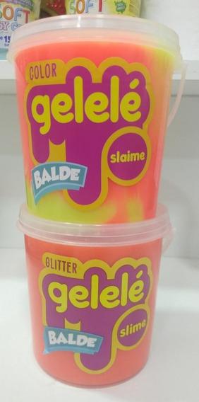 Kit Com 2 Baldes Slime Gelelé