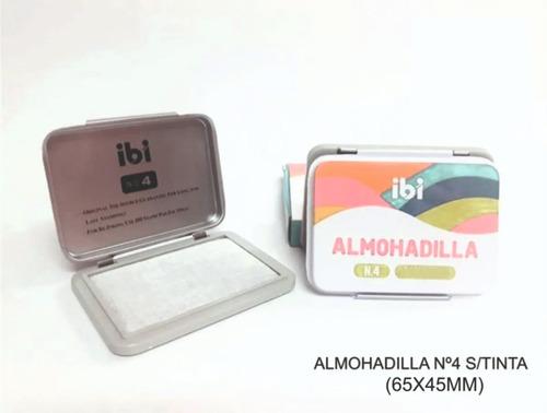 Almohadilla N° 4 Sin Tinta De Metal X 65x45 Mm Para Sellos