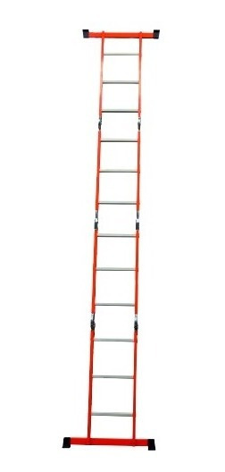 Escalera Multiposiciones Naranja Acero-aluminio 3.54 Mts