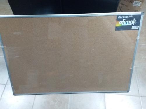 Cartelera Corcho Ofimak 0.80mt X 1.20mt Nueva Marco Aluminio