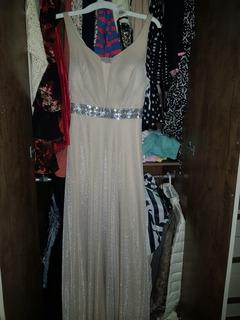 Vestido De Gala Beige