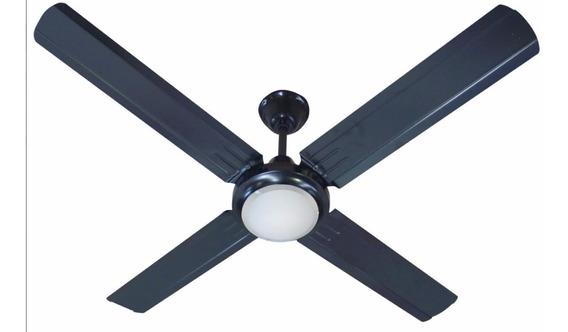 Ventilador De Techo Negro Exahome Con Plafon Garantia 5 Vel