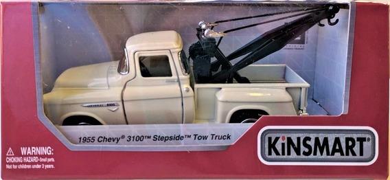 Auto Coleccionable Die-cast 1955 Chevy Stepside Tow Truck Bl