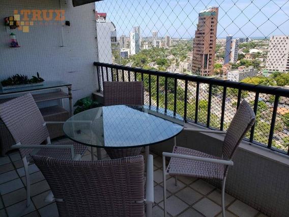 Apartamento Com 4 Dormitórios À Venda, 185 M² Por R$ 550.000,00 - Espinheiro - Recife/pe - Ap3090
