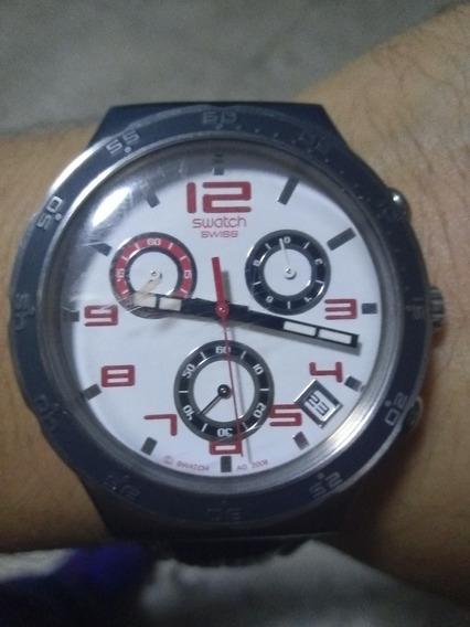 Reloj Swatch Caballero / Correa De Piel (original)