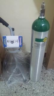 Cilindro Portatil De Oxigeno Con Regulador Y Carretilla