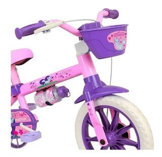 Bicicleta Aro 12 Feminina Nator 2 A 4 Anos Rosa
