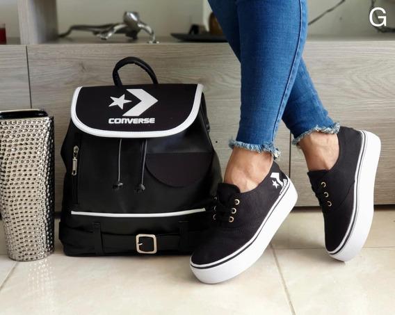 Zapatos Converse + Bolso Al Mayor