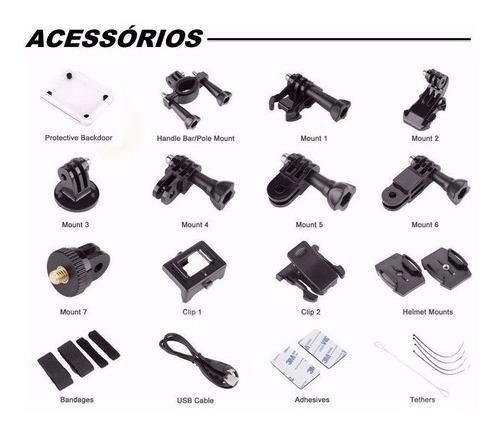 Kit Acessorios Reposicao Sport Cam 4k Wi Fi E Similares