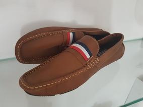 Sapato De Couro De Cor Marrom Promoção