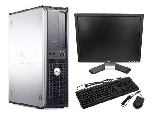 Cpu Optiplex Dell 780 Core 2 Duo 3.0 4gb Hd 160 + Monitor 17
