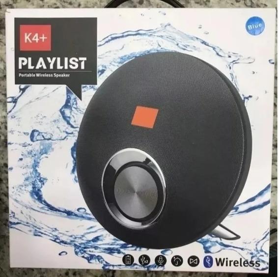 Caixinha De Som Bluetooth Playlist K4+playmusic