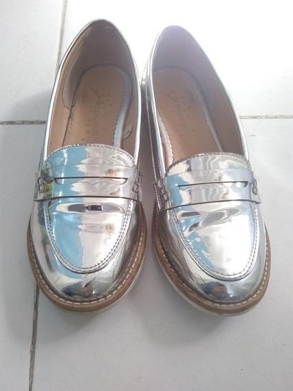 Zapato Espejeado Plata Dama