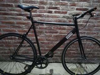 Bicicleta Single Speed/fixie Rodado 28 Negra Mate