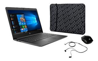 Notebook Hp 14 Año 2020 Intel 4gb 500gb Win10 +funda +mouse