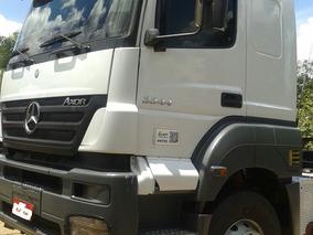 M.bens Axor 3344 6x4 Cabina Leito Baixo Km Caminhão Nota 10