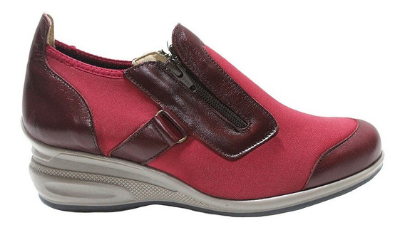 Zapato Neoprene Mujer Cuero Combinado 995. Marca Descansito