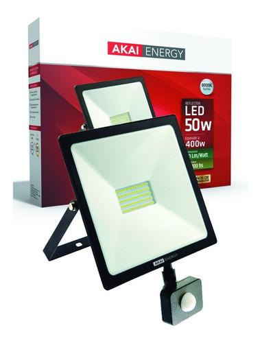 Reflector Con Sensor De Movimiento 50w Luz Fría Akai