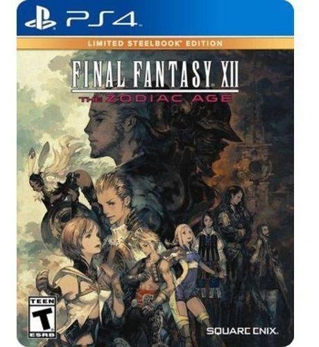 Ps4 Final Fantasy Xii The Zodiac Age Limited Steelbook Edition - Case De Metal