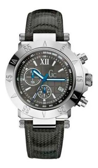 Relógio De Pulso Guess Co Masculino Couro Preto A47001g2