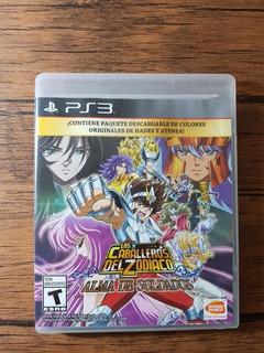 Los Caballeros Del Zodiaco Alma De Soldados Playstation 3 !!