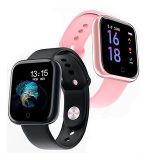 Smartwatch Sportivo T80 Monitor De Saúde Com 2 Pulseiras