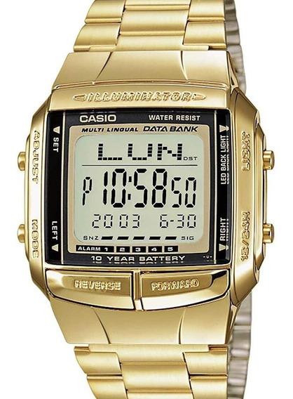 Relógio Casio Masculino Dourado Db-360g-9adf Original + Nf