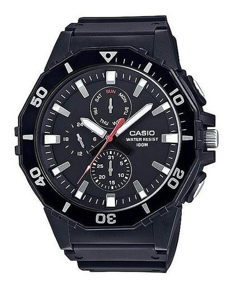 Relogio Casio Mrw 400h Grande Data Borracha Wr Nf Mrw400h