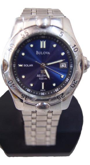 Relógio Bulova Solar Millennia Visor Azul