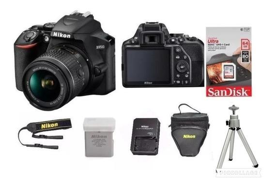 Câmera Nikon D3500 Lente 18-55mm+ 64gc/10+bolsa+tripé