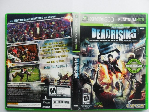 Frete Grátis Dead Rising Jogo De Xbox 360 (dvd)