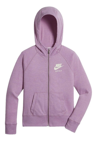 Jaqueta Infantil Menina Nike Gym Vintage Fz Hoodie 728402