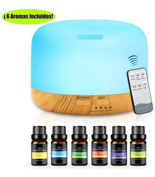 Difusor De Aromaterapia Humidificador Con 6 Aceite Esencial