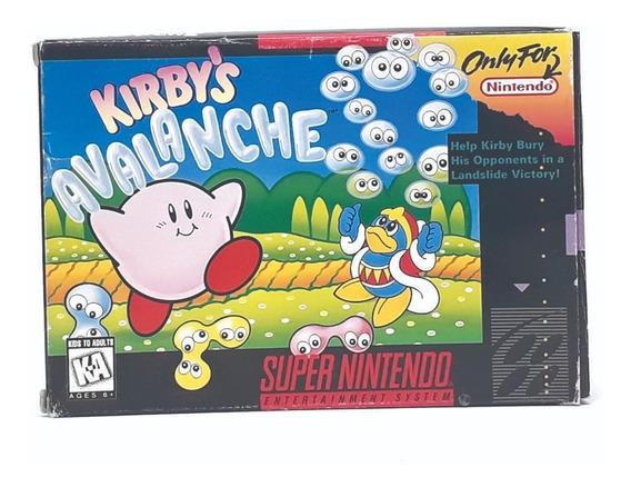 Kirbys Avalanche Na Caixa Snes Top! Loja Física!