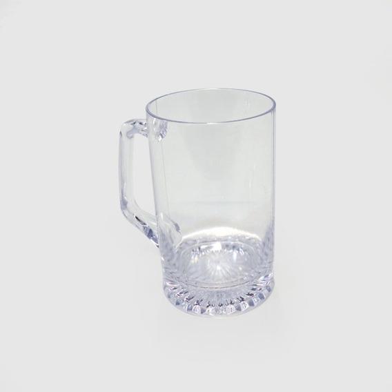Chop Recto Cerveza Plastico Facetado Cristal Si