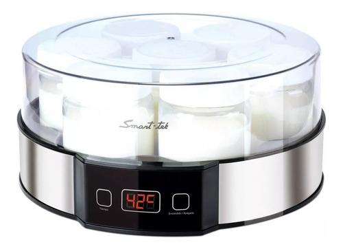 Yogurtera Smart Tek Ym750 Digital 7 Jarros Vidrio Recetario