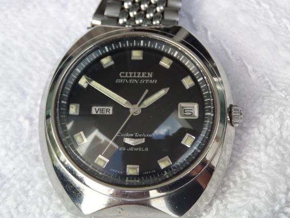 Reloj Citizen Seven Star En Acero Automatico