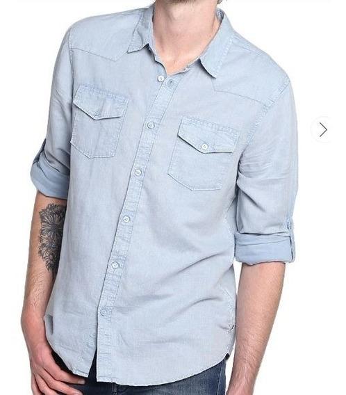 Camisa Guess Azul