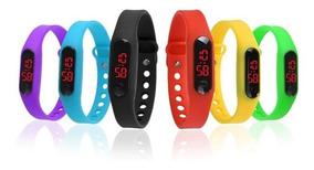 Relógio Digital Esporte Bracelete Led Homem Mulher Infantil