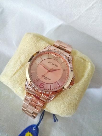 Relógio Atlantis Rosê G3478
