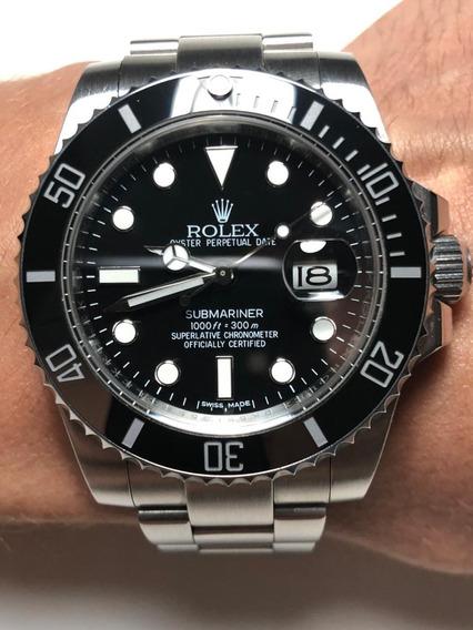 Relógio Rolex Modelo Submariner Preto Aço 904l