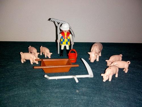 Granjera Con Cerdos Playmobil Antex Zona Retro Juguetería