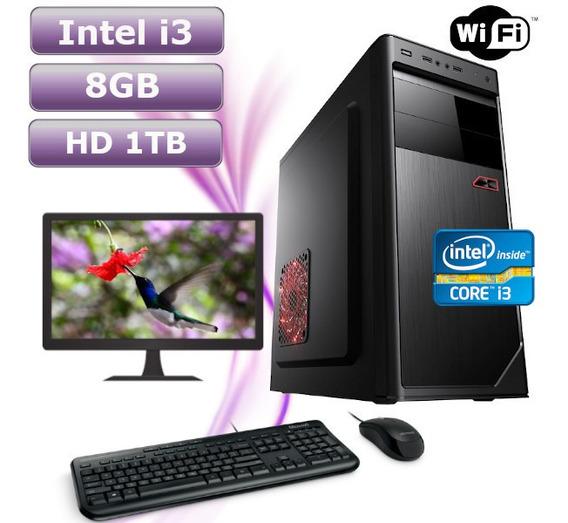 Computador Intel I3 2100 8gb Hd 1tb Wifi Kit Monitor 17 Hdmi
