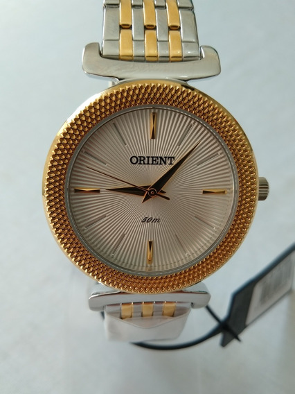 Relogio Feminino Dourado Orient Original Ftss1105.