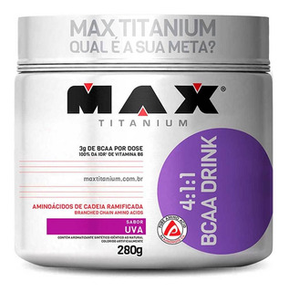 Bcaa Em Pó Bcaa Drink 4:1:1 280g Max Titanium Envio Em 24h