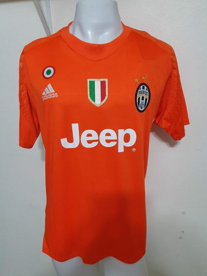 Camisa Juventus Laranja 16-17 Goleiro Buffon 1 Calcio Imp