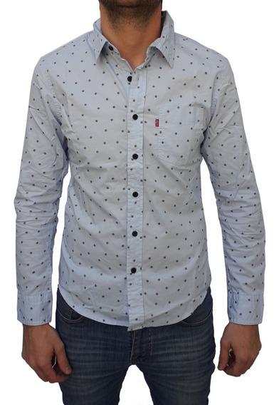 Camisa Levis Hombre Manga Larga Estampada Símbolos