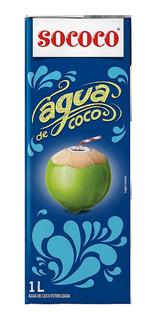 Agua De Coco Sococo 1l Kit Com 12 Unidades