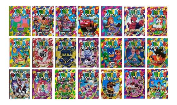 70 Libros P/ Colorear 16 Páginas + Plancha Stickers A Pintar